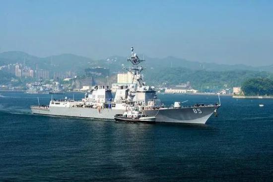 """▲美国海军""""麦克坎贝尔""""号军舰"""