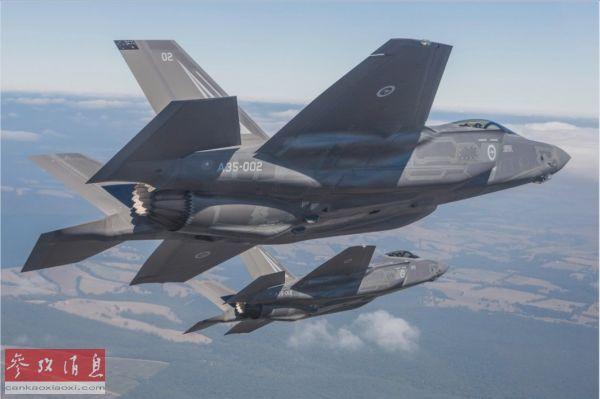 澳大利亚空军已接收的首批2架F-35A隐身战机其巷侥。(美国洛马公司网站)