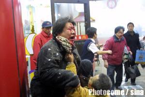 2001突发新闻图片回顾:西安市中心麦当劳发生