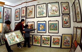 年画:表现传统民间v年画内容桃花坞节日图文受情趣用品的点便宜图片