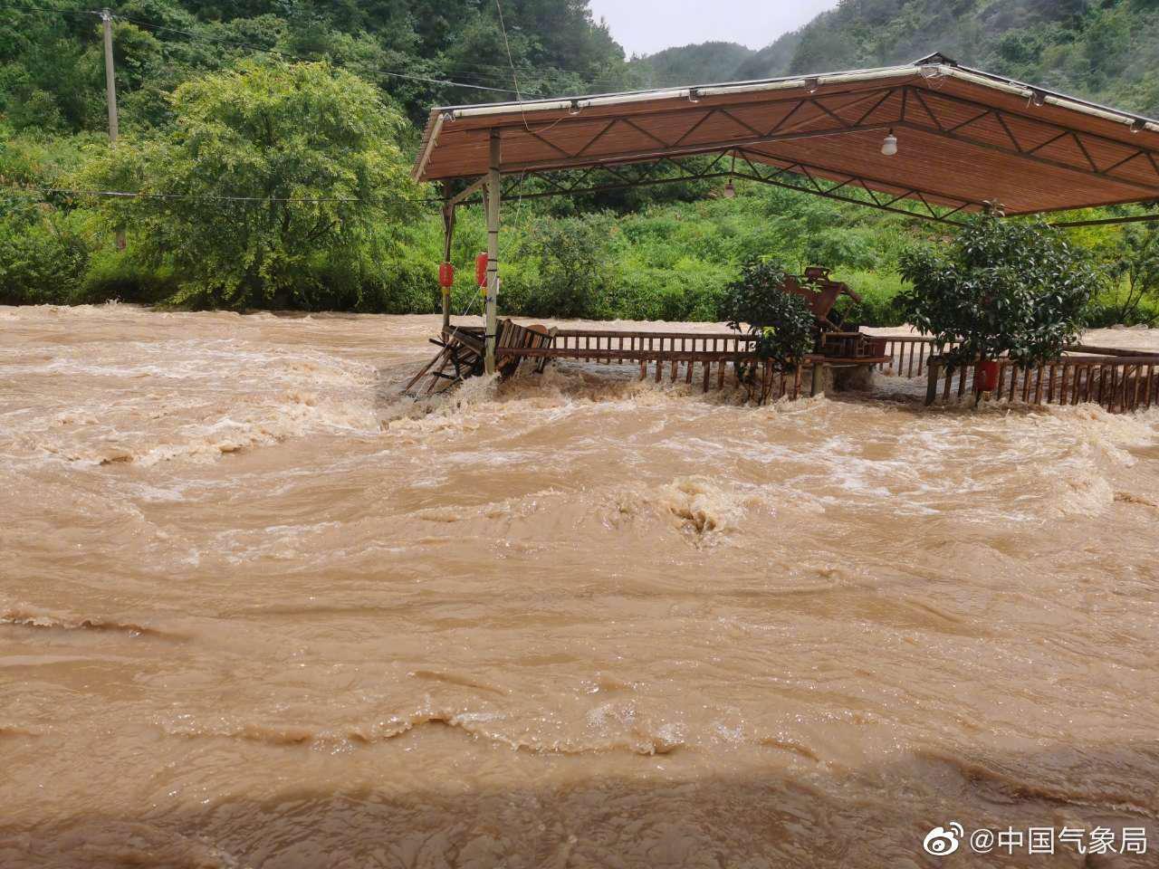 浙江省常山县出现入梅以来第六轮强降水天气