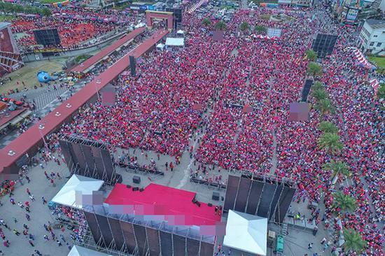韩国瑜花莲造势15万人到场 相当于花莲总人口一半