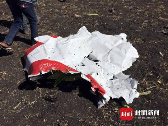 埃塞空难现场照片曝光 失事飞机机长曾表示想返航