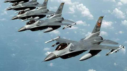 ▲资料图片:美国空军F-16战斗机参加北极军演。