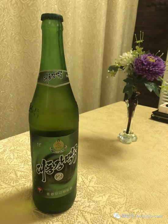 朝鲜大同江啤酒。范凌志/摄