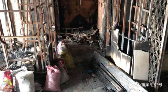 ▲失火公寓情况内景。资料图片