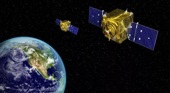 美国公开的GSSAP卫星示意图