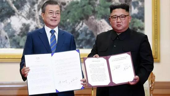朝韩领导人签署《9月平壤共同宣言》