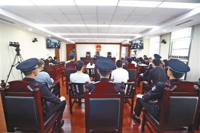 王维刚等团伙在海淀法院接受审理。北京高院供图