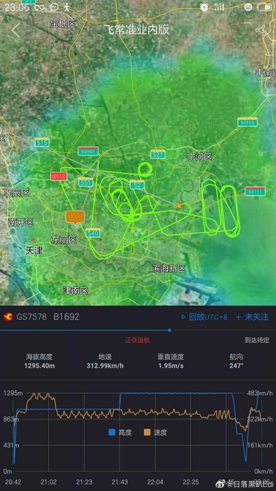 天航GS7578航班疑因机械故障返航备降 已安全落地