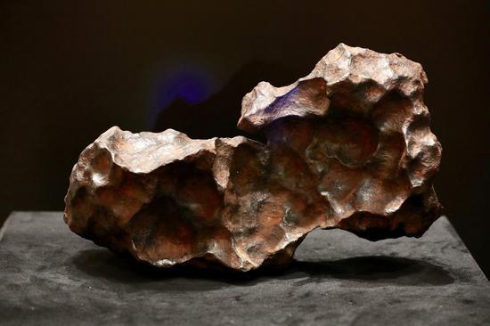 展出的陨石藏品。