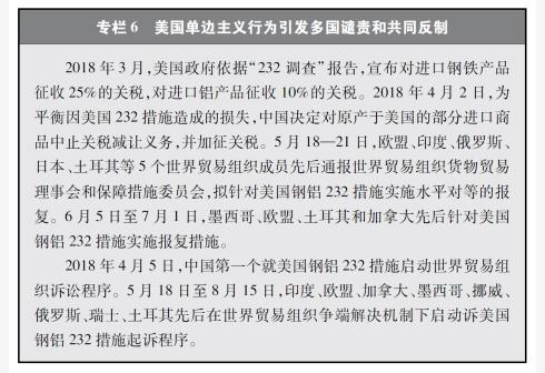新华社图表,北京,2018年9月24日图表:专栏6 美国单边主义行为引发多国谴责和共同反制