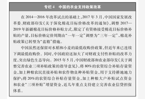 新华社图表,北京,2018年9月24日 图表:专栏4 中国的农业支持政策改革