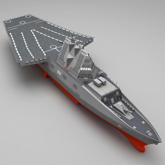 DDG-1000+伯克3+无人机母舰……是不是造出来是这样?