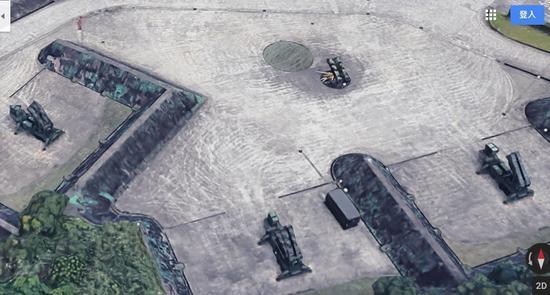 台空军部署在新店爱国者阵地被立体还原,导弹车形式与装备内容则更容易辨识 图丨联合报