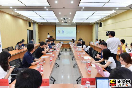 第三届北京市朝阳区律师协会第一次新闻发布会现场。