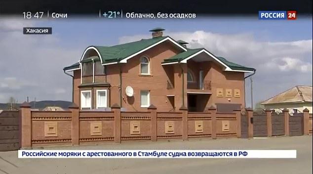 """泽耶采夫新建的豪宅 图源:""""俄罗斯24""""电视台"""