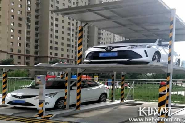 """河北鼓励推广应用立体停车装备设施模式 解决""""停车难""""小case_发动机测试"""