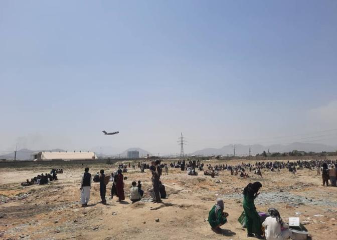 资料图:阿富汗喀布尔机场