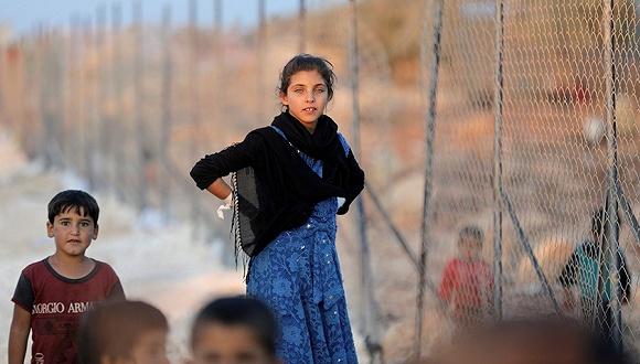 9月11日,叙利亚伊德利卜省Atimah村的难民营。图片来源:视觉中国