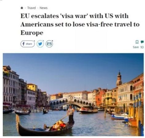 CNN纠正:欧盟没取消美国免签 但两年后要新手续