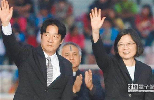 """赖清德(左)、蔡英文(右)。(图片来源:台湾""""中时电子报"""")"""