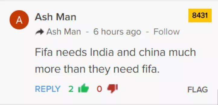 被国足逼平之后 印度国内的反应更扎中国人的心
