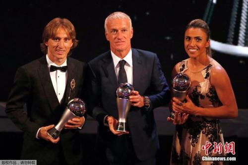 德尚荣膺FIFA年度最佳教练 萨拉赫摘得最佳进球