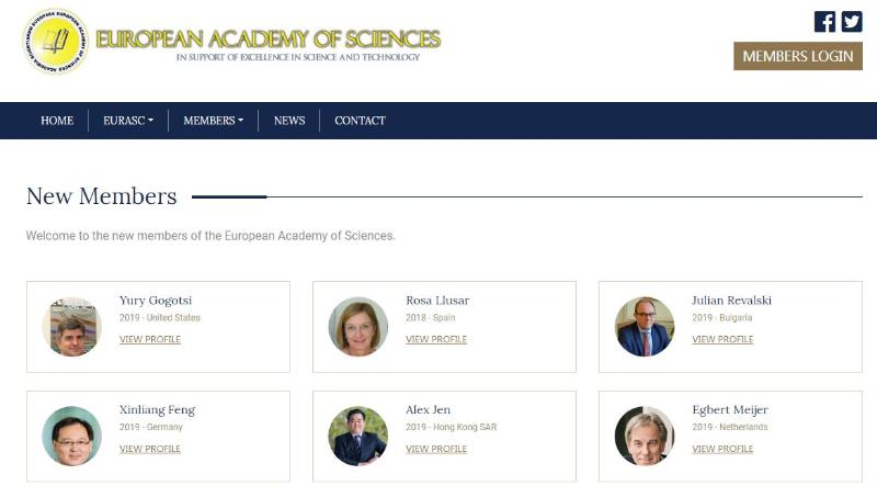 化学化工学院冯新亮教授当选欧洲科学院院士