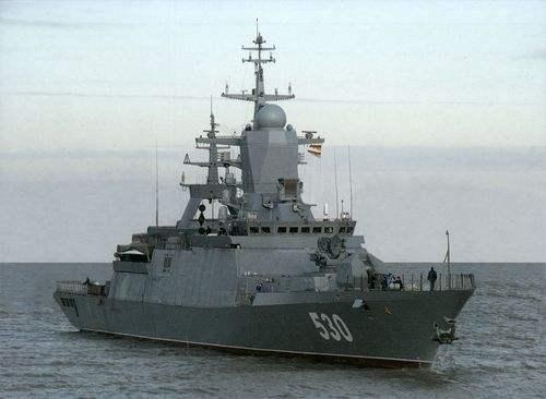 图为俄罗斯海军20380型轻型护卫舰