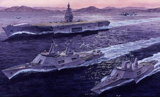 ……当年英国也设计过集巡洋舰和轻型航母功能于一体的三体战舰