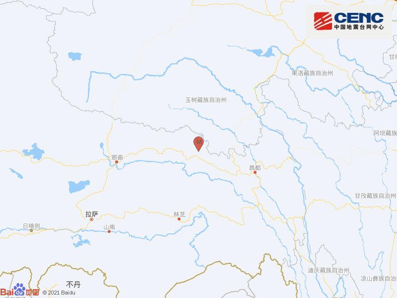 西藏昌都市丁青县发生3.0级地震 震源深度10千米