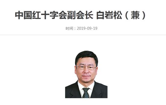 兼职中国红十字会副会长的白岩松 没有级别没有工资