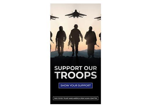 特朗普竞选团队发广告呼吁支持军队 配图却是俄军机