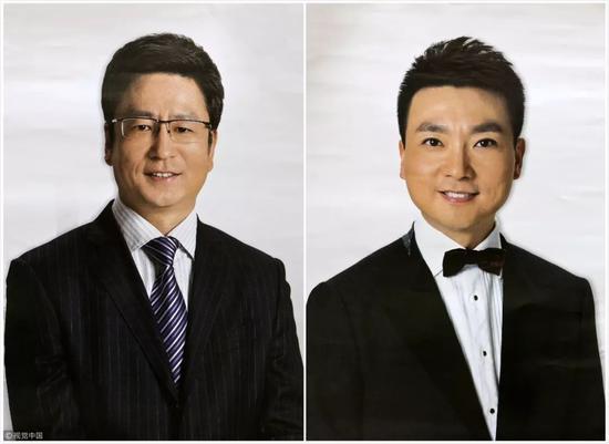 白岩松(左)、康辉(右)