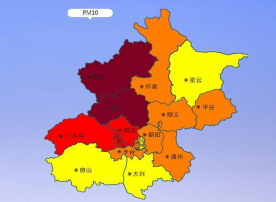 遏制15时,延庆、昌平PM10较着升高。(起源:北京市环境保护监测中心网站)