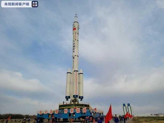 神舟十三号船箭组合体转运至发射区计划近期择机实施发射