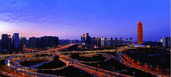 郑州夜景 (图片起源:摄图网)