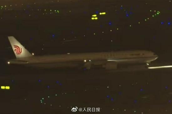 孟晚舟乘坐的中国政府包机飞抵深圳宝安国际机场