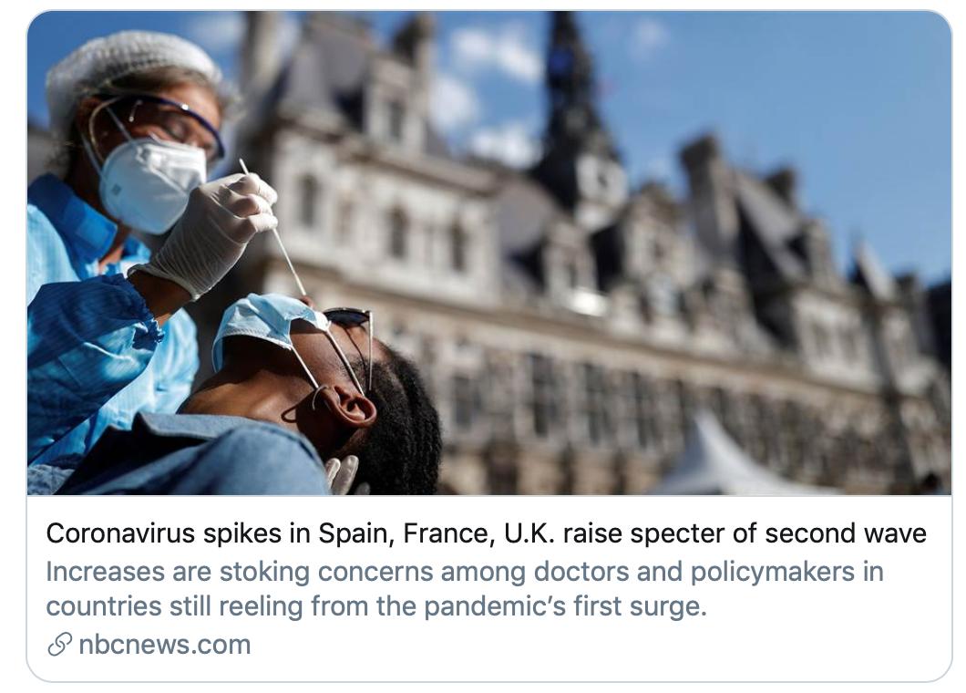 欧洲将迎来第二波疫情?世卫组织发言人回应