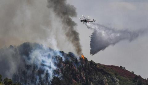 美国山火有害烟雾影响北美大片地区,还飘到欧洲
