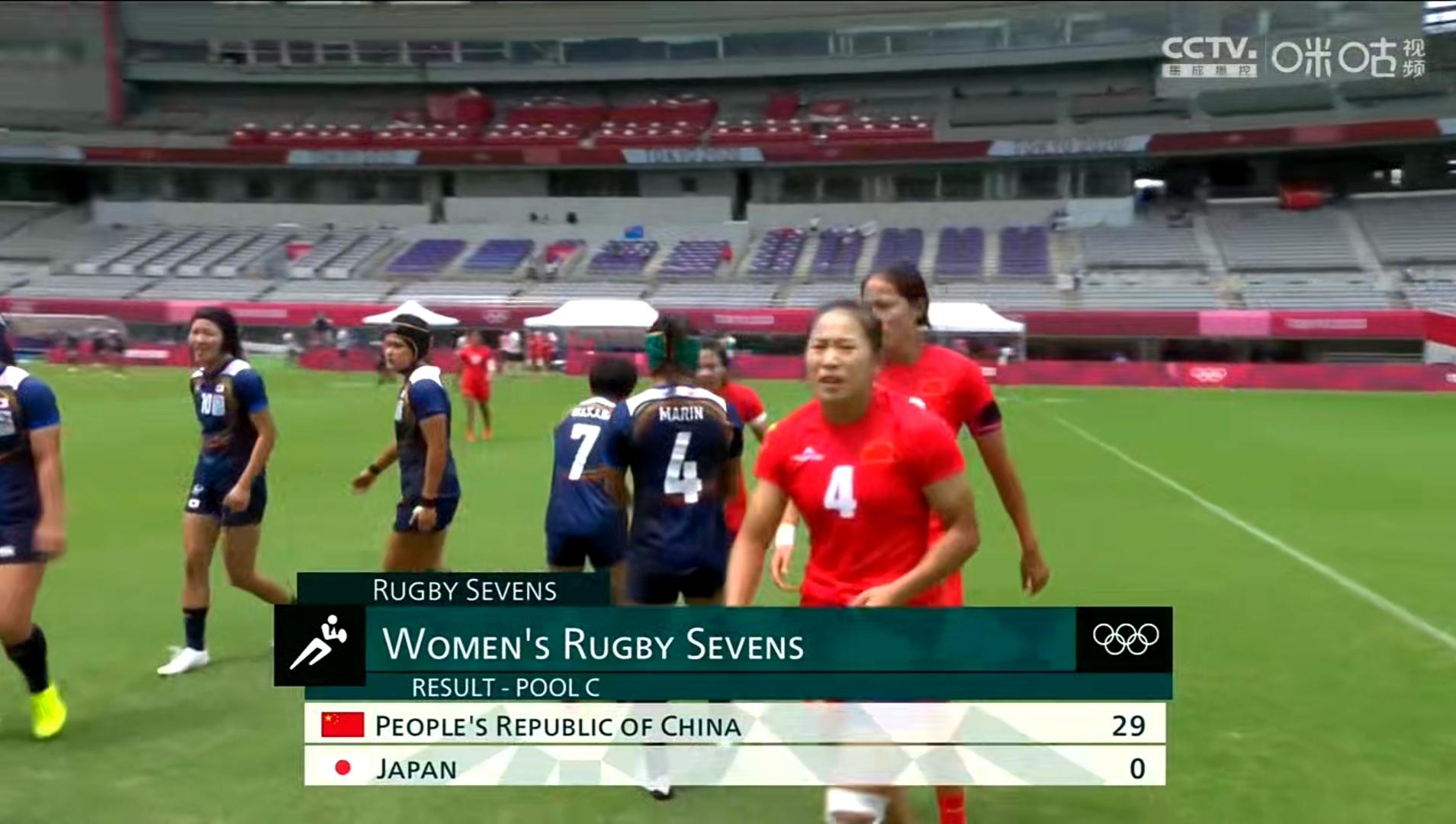 大胜日本 中国女子橄榄球队赢得出线生死战