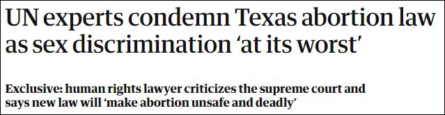 """得州堕胎法将""""连坐""""诊所 美司法部插手了"""