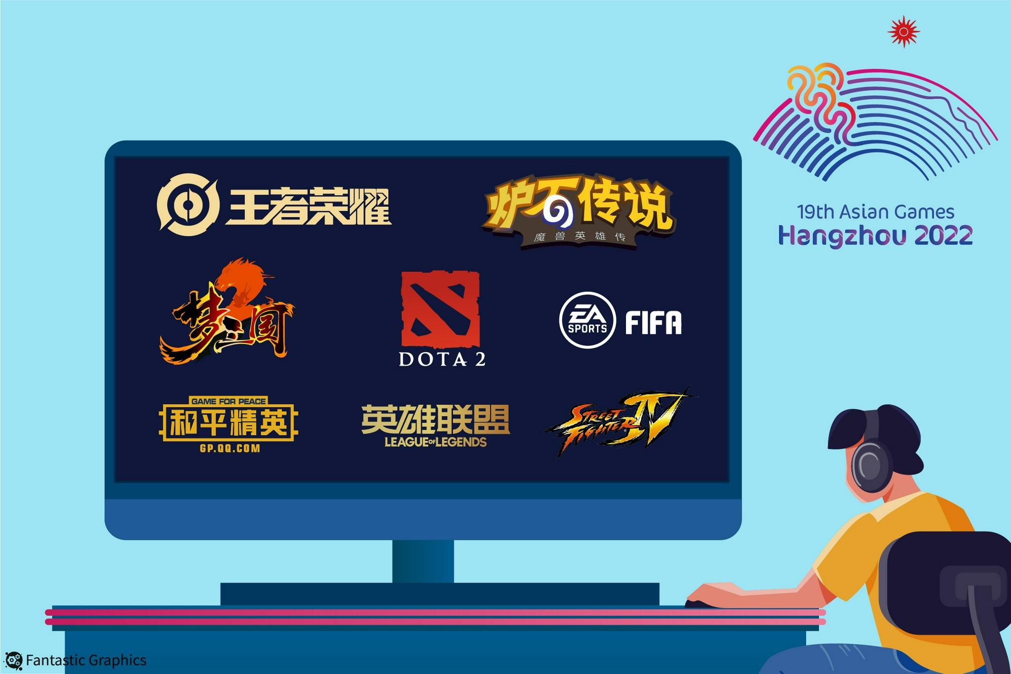 8项电竞比赛入围杭州亚运会 英雄联盟、王者荣耀领衔