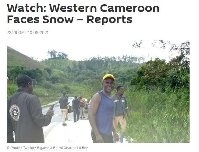 紧挨赤道的非洲国家喀麦隆下雪了!民众难掩兴奋(图)
