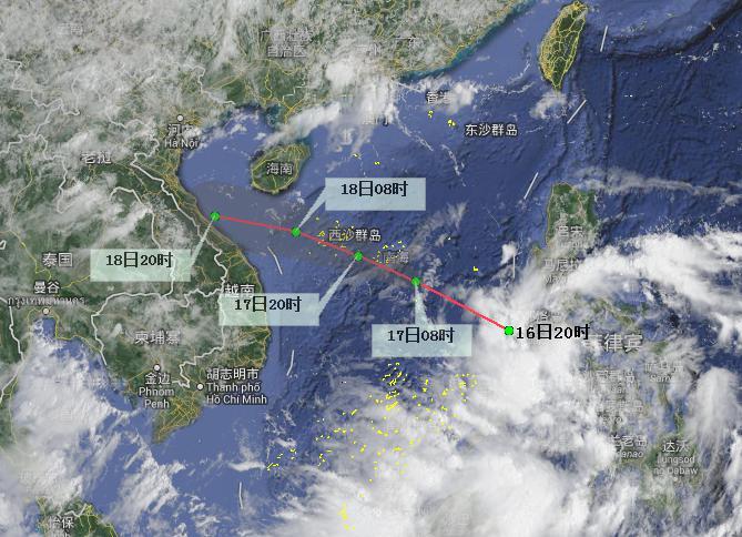 南海热带低压将于16日前后生成 海南岛将迎较强风雨
