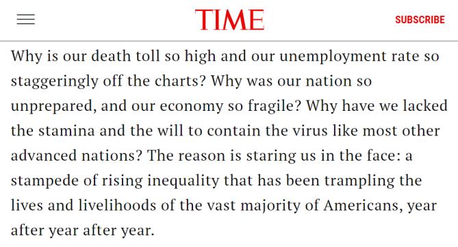 疫情之下 美国富人的钱包却越来越鼓