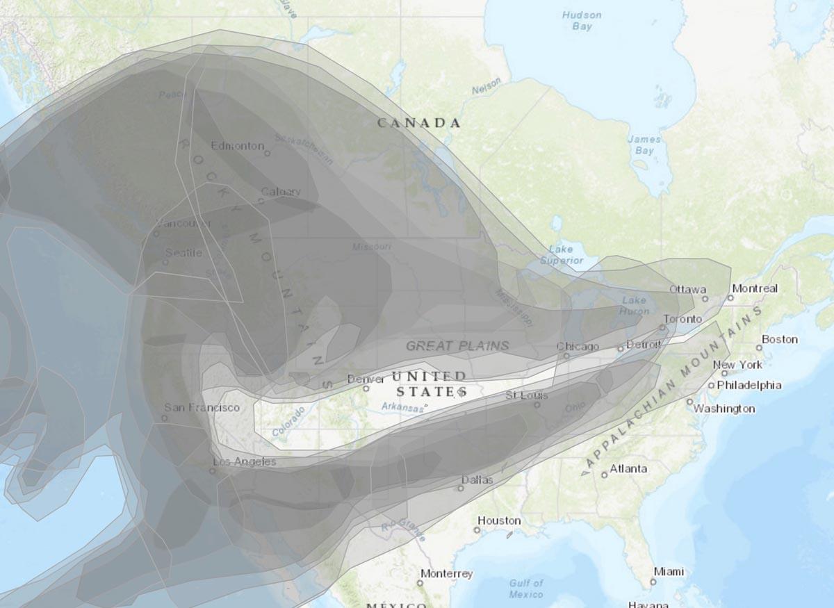 加拿大已有5个省飘进美国山林大火造成的烟雾