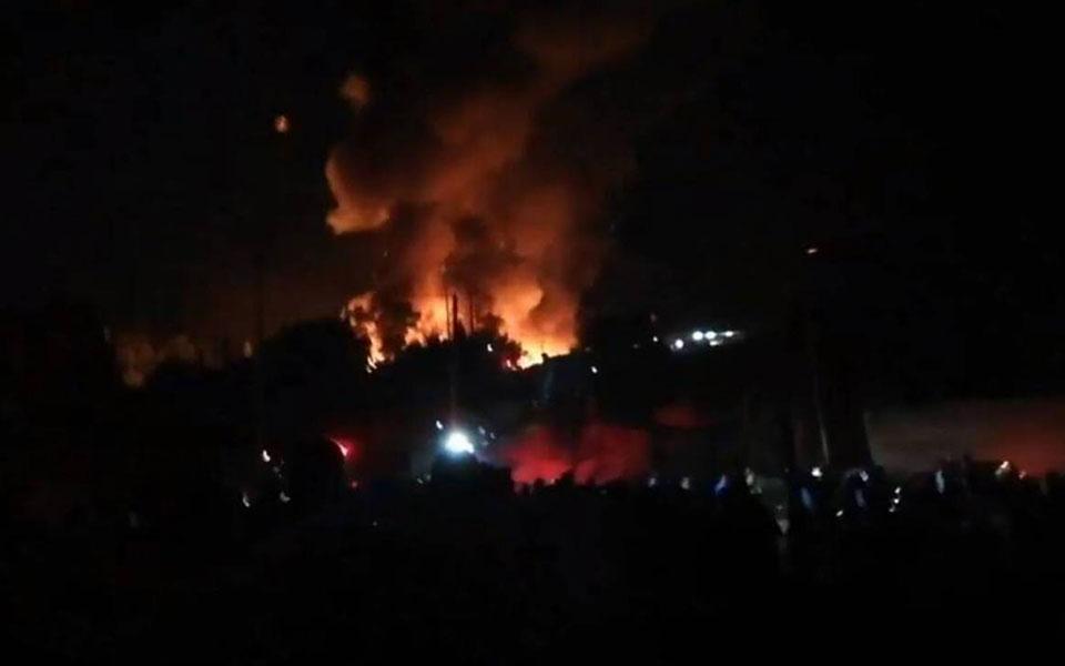 希腊又一难民营发生大火