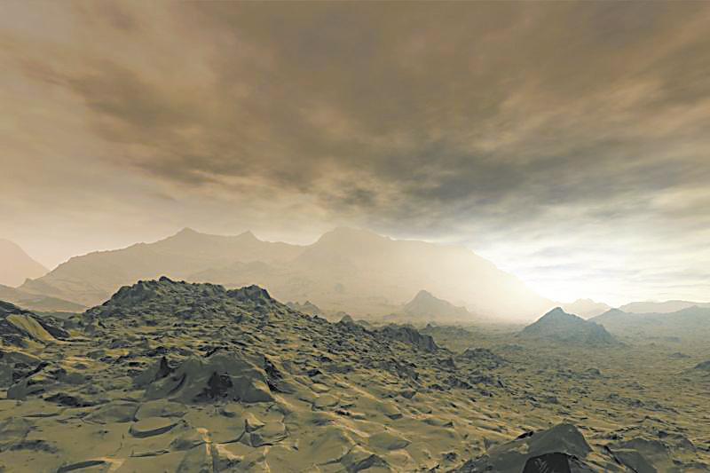 生命有机体飘浮在金星云层中?